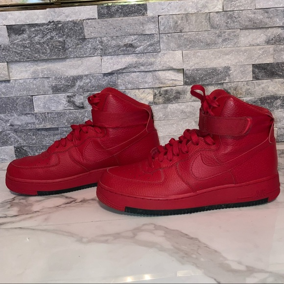 Nike Shoes | Red Hightop Nike Air Force